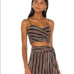 NWT House of Harlow Revolve Tania Stripe Crop Top